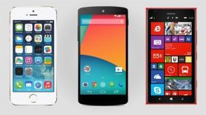 Dvojac/trojac koji drma smartfonima - Android, iOS te Windows Phone. Ostali su u kao elementi u tragovima...