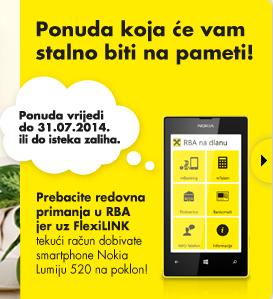 Primamljivo - WP smartfon mukte za otvoren tekući u RBA na koji vam sjeda plaća