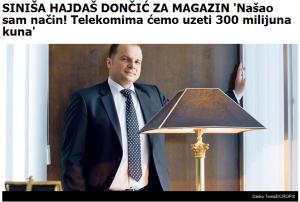 Robin Hood hrvatske Vlade, uzima Zlim Bogatim Telekomima i daje... hm, kome to točno ide tih 300 milijuna kuna?