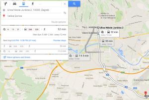 Posao obavljen napola: statički vozni red je tu, ali nedostaju podaci o dolasku tramvaja/autobusa na pojedinu stanicu - koje ZET ima, ali ih nije učinio dostupnima na Google Transitu.