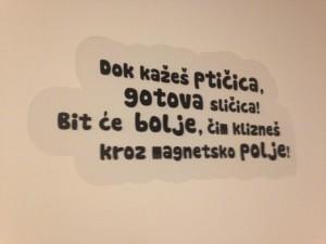 Skromnije, ali s djecom na umu - zagrebačka dječja bolnica u Klaićevoj oblijepila je zidove na MR odjelu jednostavnim naljepnicama sa šaljivim pjesmicama na temu MR snimanja