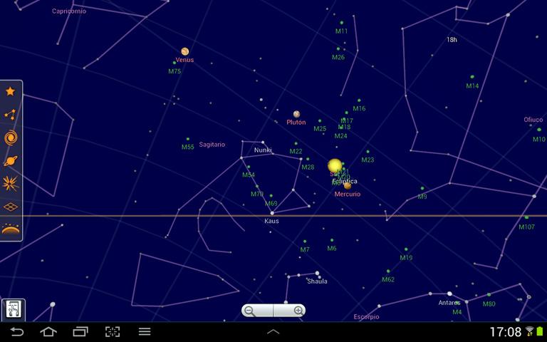 Layeri koje je moguće aktivirati unutar Sky Map aplikacije pomažu vam tako da označe sazviježđa, pojedina zvijezde i planete kako bih ih lakše prepoznali na nebu iznad vas